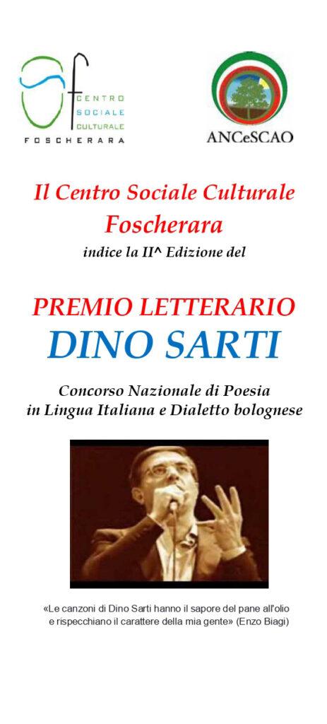 Locandina II Edizione Concorso Letterario Dino Sarti