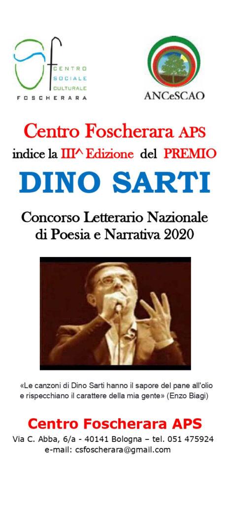 Locandina III Edizione Concorso letterario Dino Sarti